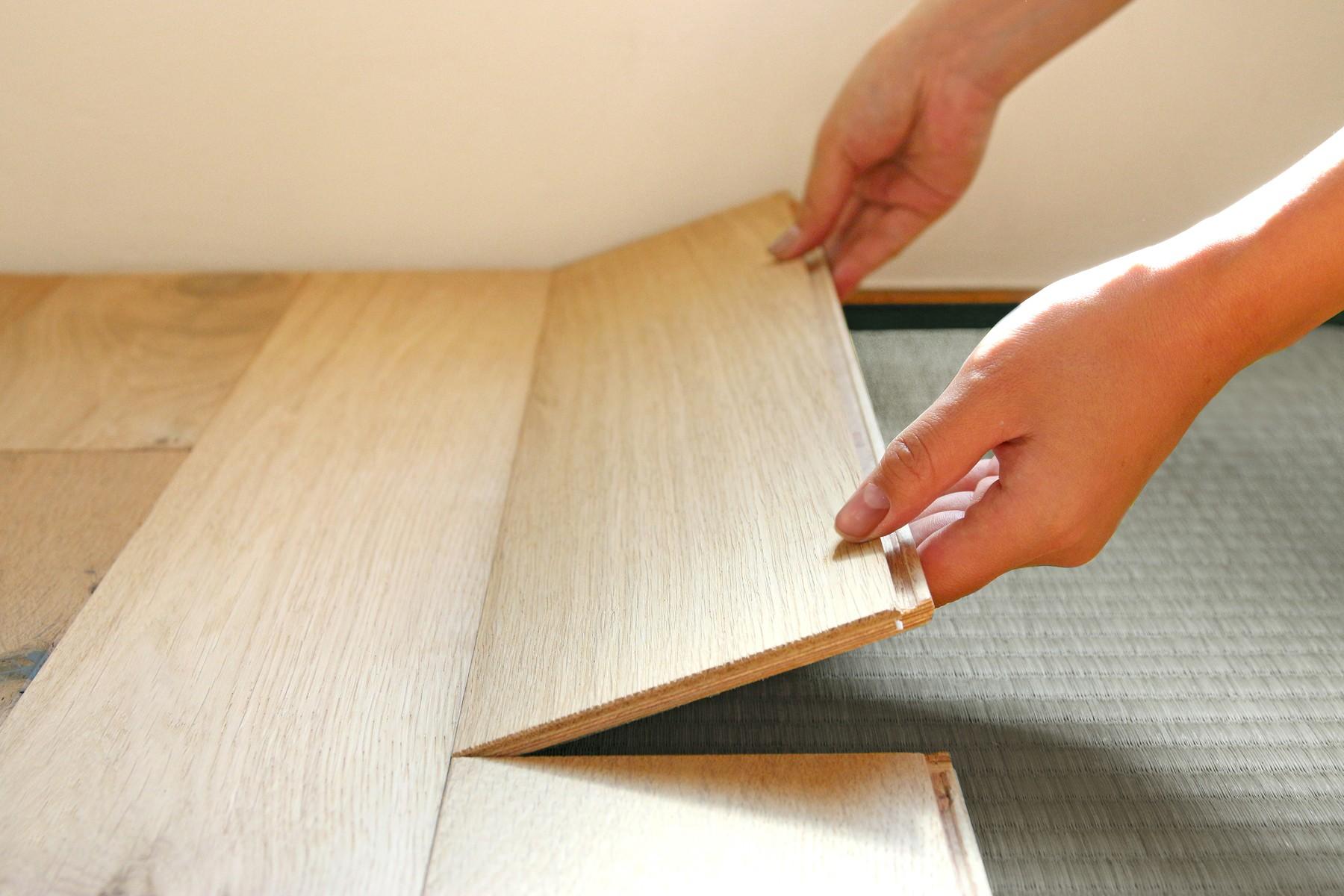 畳 から フローリング diy